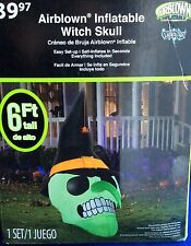 NIB~6 feet WITCH SKULL HALLOWEEN INFLATABLE BLOW UP/AIR BLOWN