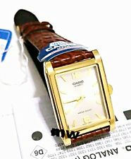 NEW CASIO MEN'S CLASSIC BROWN LEATHER STRAP ANALOG QUARTZ WATCH MTP-1235GL-7A