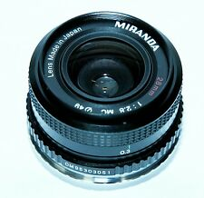 Miranda 28mm f2.8 MC Macro Wide Angle Fast Fixed Prime Lens for Canon EF