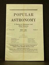 Vintage May 1945 Popular Astronomy Allied Science Magazine Book Carleton College