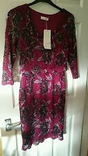 new with tags marks and Spencer per una dark red floral lace effect dress size 8