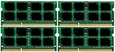 NEW! 32GB DDR3 PC8500 4x 8GB PC3-8500 1066MHz Laptop SODIMM MEMORY 32 GB 4x8GB