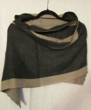 Lagenlook Reversible Soft Wool and Cashmere shawl