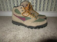 Vintage 90s Nike Hiking Boots Leather Suede Nylon Hiking boots Women's 8 1990s