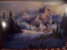 LEANIN TREE  CHRISTMAS CARD SET COLORADO CHURCH NESTLED IN THE MOUNTAINS NEW !