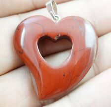 Beautiful Hand-carved Heart-shaped Mixed agate PENDANT GEMSTONE LOOSE beads A1