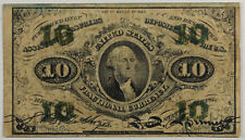 SERIES 1863 10 CENT FRACTIONAL CURRENCY, FR-1255 VG