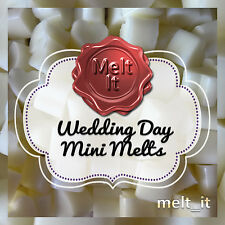 50 WEDDING DAY highly scented mini wax melts tarts wedding favours oil burner