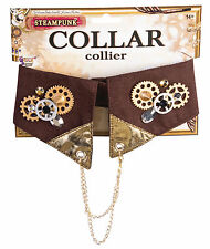 ADULT VICTORIAN STEAMPUNK COLLAR FANCY DRESS ACCESSORY