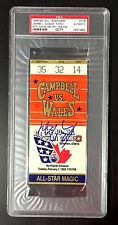 WAYNE GRETZKY SIGNED 1989 EDMONTON NHL ALL STAR GAME TICKET STUB MVP PSA RARE