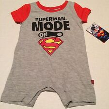 Superman one piece creeper sz 6-9 months Superman Mode on DC Comics New Nwt