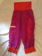 Zumba Crops Pants Medium Womens Hip Hop Purple Baggy Instructor
