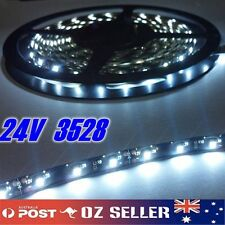 24V Waterproof Flexible 5M 3528 300SMD Black Base White LED Strip Trailer Truck