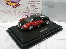 """Schuco 26134 # Bugatti Veyron Coupe anno di costruzione 2010 in """"nero-rosso"""" 1:87 NUOVO"""