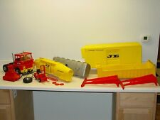 Vintage Johnny Express Truck Set, Semi, Trailers Tankers Topper Toys Battery Op