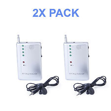 2X PACK RF Signal Bug Hidden Camera Spy Detector - Detects WiFi Audio Cell Phone
