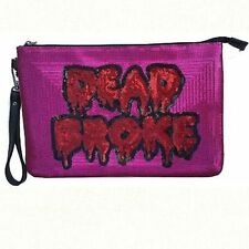 Iron Fist Dead Broke Zombie Blood Punk Rock Gothic Metal Emo Clutch Bag Purse