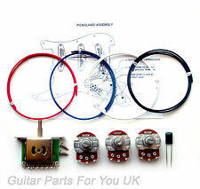 250k Stratocaster wiring kit Full Size pots 0.022uf ST wiring kit upgrade NEW