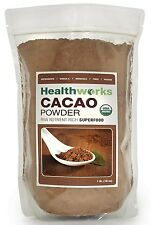 Healthworks Raw Certified Organic Cacao Powder, 1 lb from HealthWorks OOO NEW