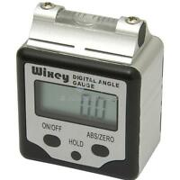 Wixey WR360 Digital Angle Inclinometer Gauge, Hold Button + Vial Spirit Level