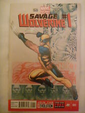 SAVAGE WOLVERINE ISSUE #  1.  MARCH 2013.  MARVEL NOW SERIES