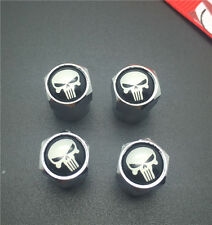 4PCS  Punisher Tire Wheel Rims Stem Air Valve Caps Tyre Cover Car Truck Bike