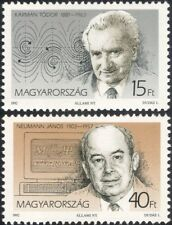 Hungary 1992 Karman/Neumann/Scientists/Science/Mathematics/Space 2v set (n45718)
