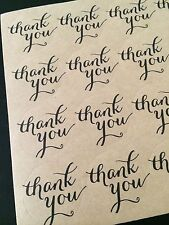 Thank You Stickers Labels Envelope Seals -Wedding, Graduation, Birthday, Event