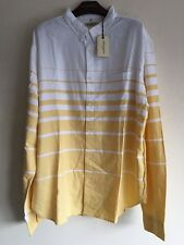 Levis Made & Crafted One Pocket Oxford Shirt WHITE/YELLOW Size XXL RRP £130