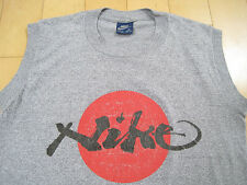 ULTRA RARE!! 80s vtg NIKE BLUE tag JAPAN font RISING SUN T SHIRT 50/50 small