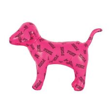 Victoria's Secret PINK Logo HOT PINK DOG Puppy Black Small Collectible Cute