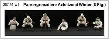 ARTITEC 387.51 - 1/87 / H0 Dt. PANZERGRENADIERE AUFSITZEND - WINTERTARN - NEU