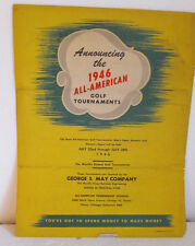COLORFUL PROMO SHEET ANNOUNCING 1946 ALL-AMERICAN GOLF-REVERSE PAST WINNERS