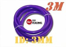"3mm 1/8"" 0.12"" Silicone Vacuum Tube Hose Silicon Tubing 10ft 3M 3 Meters Purple"