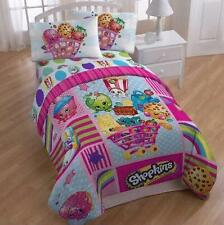 New Shopkins comforter blanket + 3 pc sheet set bedding for girls Twin size