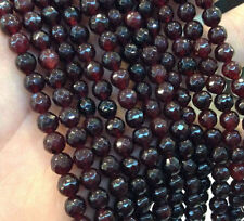 "4MM India Garnet Faceted Gemstone Rondelle Loose Beads 15"" Strand"