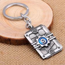 HEARTHSTONE Schlüsselanhänger Keychain Kette Warcraft Buch Schmuck pendant blau