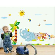 Cute Cartoon Animal World Baby Kids Children Room Decal Wall Sticker Sheet Decor