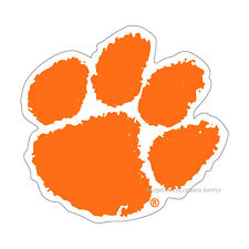 CU CLEMSON UNIVERSITY Large Tiger Paw Decal
