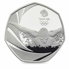 2016 50P COIN TEAM GB RIO OLYMPIC SWIM RARE FIFTY PENCE UNCIRCULATED SWIMMING !
