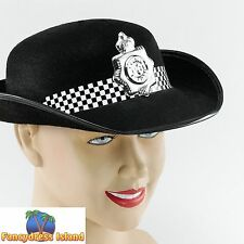 COPS & ROBBERS POLICE WOMAN PC FELT HAT - womens ladies fancy dress accessory