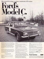 1967 FORD CORTINA MODEL C  ~  VINTAGE ORIGINAL PRINT AD