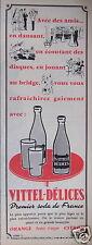 PUBLICITÉ 1957 SODA VITTEL DÉLICES AVEC DES AMIS DESSIN P. RAOUL - ADVERTISING