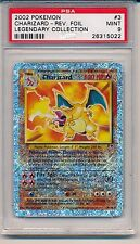 Pokemon Charizard Reverse Holo 3/110 Legendary Collection Graded PSA 9 MINT
