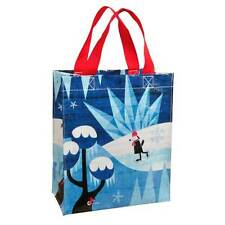 "Blue Q ""Snowy Day"" lunch tote bag by Roman Klonek ice skating dog recycled eco"
