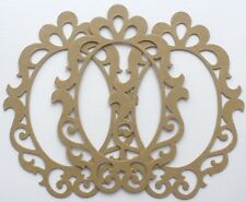 "{3} *ELEGANT SCROLL FRAME* Picture Frames Chipboard Die Cuts - 4 1/4"" x 5 1/8"""