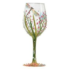 """LOLITA confezione regalo """"Libellula"""" Bicchiere di Vino Regalo dipinto a mano natura Diamante Bug"""