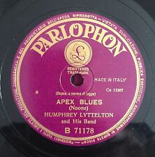 """RARE 78RPM 10"""" PARLOPHON HUMPHREY LYTTELTON AND HIS BAND APEX BLUES/1919 MARCH"""
