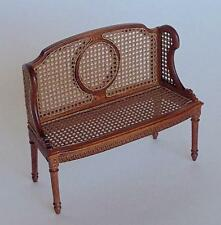 MINIATURE DOLLHOUSE 'ODETTE' CANE BENCH BY MARITZA BESPAQ-MM 015 NWN