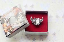Attack on Titan Cosplay Survey Legion Recon Corps Freedom Wing Ring in Gift Box